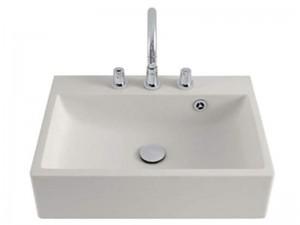 Agape Block eingestelltes Waschbecken mit 3 Löchern für Armaturen ACER720M3RZ