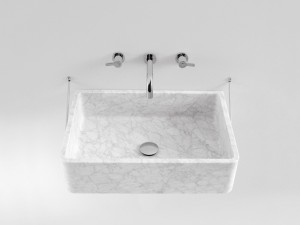 Agape Carrara eingestelltes Waschbecken mit Struktur ACER0730S