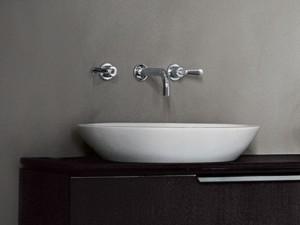 Agape Spoon Halber Einbau Waschbecken ACER0700IZ