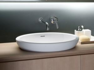 Agape Spoon XL Halber Einbau Waschbecken ACER0713IZ