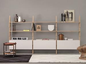 Agapecasa Cavalletto Zusammensetzung Bücherregal aus Holz ACVL