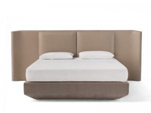 Amura Panis Bed Doppelbett aus Leder PANISBED595.605