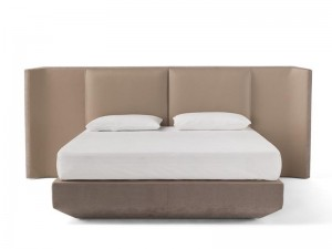 Amura Panis Bed Doppelbett aus Leder PANISBED595.607