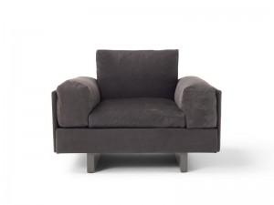 Amura Tau Sessel aus Leder TAU010