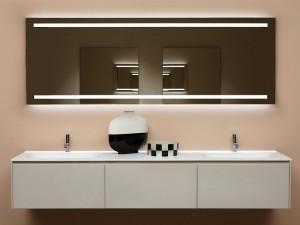 Antonio Lupi Spio Spiegel rechteckig mit 2 weiße Led SPIO150W