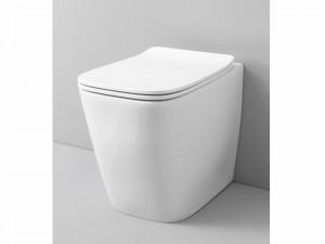 Artceram A16 Wc-Topf rimless am Boden mit verzögerter Toilettendeckel weiß und matt ASV00405