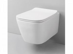 Artceram A16 kleiner eingestellter Wc-Topf rimless mit verzögerter Toilettendeckel weiß und matt ASV00505