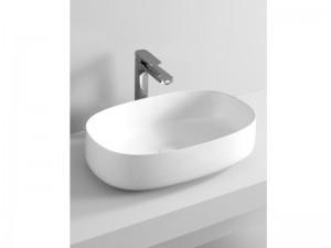 Artceram Cognac55 Waschbecken mit Unterstützung weiß und matt COL003-05