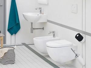 Artceram File Sanitären am Boden, rimless Wc-Topf, Bidet und verzögerter Toilettendeckel weiß und matt FLV00405+FLB00105+FLA0145