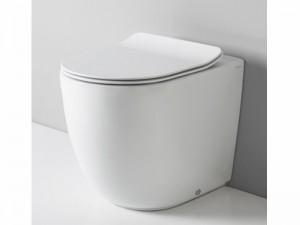 Artceram File Topf am Boden rimless mit verzögerter Toilettendeckel weiß und mat FLV00505