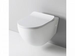 Eingestellter Wc-Topf rimless mit verzögerter Toilettendeckel FLV004