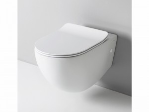 Artceram File Topf am Boden rimless mit verzögerter Toilettendeckel weiß und matt FLV00405