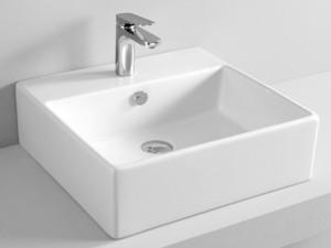Artceram Quadro 50 eingestellter Waschbecken oder mit Unterstützung QUL002