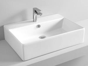 Artceram Quadro 65 eingestellter Waschbecken oder mit Unterstützung QUL003