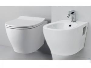 Artceram Ten eingestellte Sanitären, Wc-Topf, Bidet und Toilettendeckel