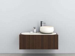 Cielo Delfo eingestelltes Möbelstuck mit Waschbecken