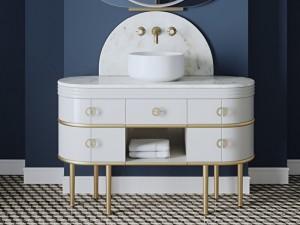 Devon & Devon Scottie Vanity Unit Möbel mit Waschbecken SCOTTIECRCRXOTSATP