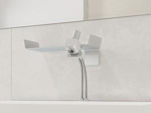 Dueacca Kit 03 Indoor Waschbecken Armatur mit einzelnem Befehl mit Wand Unterstützung 4120038101