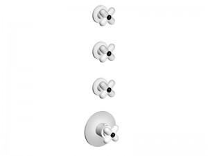 Fantini I Balocchi miscelatore termostatico doccia 4 fori con 3 rubinetti d'arresto 0603B
