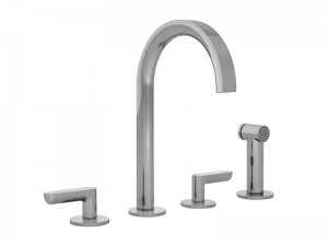 Fantini Icona Deco rubinetto cucina 4 fori con doccetta estraibile R151
