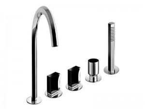 Fantini Venezia rubinetto vasca 5 fori con deviatore e doccetta estraibile N465S