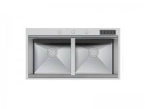 Foster Milano lavello cucina 2 vasche in acciaio 1020 055