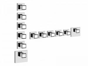 Gessi Eleganza Wellness Thermostat Mischer für Dusche mit 5 Absperrarmaturen 46230