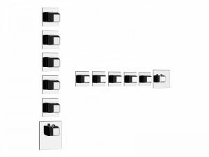 Gessi Mimi Wellness Thermostat Mischer für Dusche mit 5 Absperrarmaturen 43250