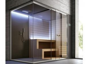 Hafro Ethos Sauna mit Dusche SET50074-1D010