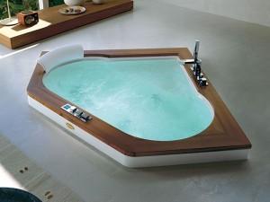 Jacuzzi Aura Corner 140 Wood Whirlpool Badewanne mit Einbau 9F43492A