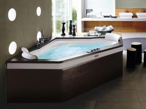 Jacuzzi Aura Corner 160 Wood Whirlpool Badewanne mit Einbau 9H43484A