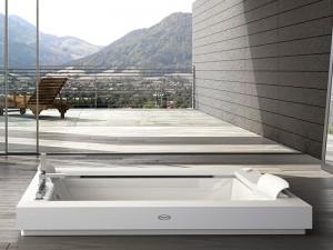 Jacuzzi Aura Plus Corian Whirlpool Badewanne mit Einbau 9443731