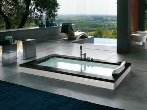 Jacuzzi Aura Uno Wood Whirlpool Badewanne mit Einbau 9F43529SX