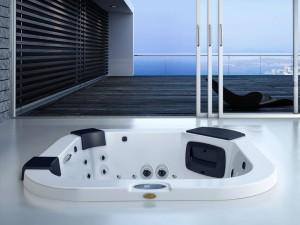 Jacuzzi Delfi Pro Sound kleiner Schwimmbecken Jacuzzi mit Einbau indoor und outdoor 9444-80052