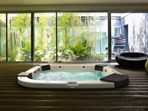 Jacuzzi Delos Pro Sound kleiner Schwimmbecken Jacuzzi mit Einbau indoor und outdoor  9444-81952