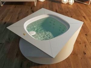 Jacuzzi Flow kleiner Schwimmbecken Jacuzzi mit Einbau indoor  9445-01952