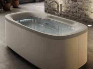 Jacuzzi Muse freistehende Whirlpool Badewanne 9F43793ASX