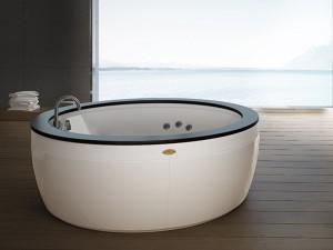 Jacuzzi Nova Wood freistehende Whirlpool Badewanne NOV20510700