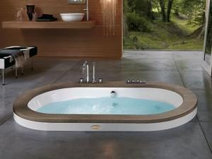 Jacuzzi Opalia Wood Whirlpool Badewanne mit Einbau 9F43498