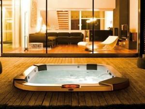 Jacuzzi Santorini Pro Sound kleiner Schwimmbecken Jacuzzi mit Einbau indoor und outdoor.  9444-83552