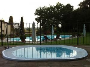 Jacuzzi Sienna Experience kleiner Schwimmbecken Jacuzzi mit Einbau indoor und outdoor 9445-03552