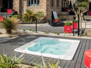 Jacuzzi Virgina Experience kleiner Schwimmbecken Jacuzzi mit Einbau indoor und outdoor 9445-01752
