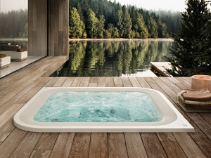 Jacuzzi Virtus kleiner Schwimmbecken Jacuzzi mit Einbau indoor und outdoor VIR-1002-3052