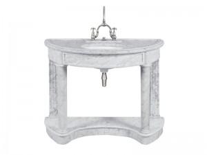 Lefroy Brooks Demi Lune consolle in marmo di Carrara LB6330WH