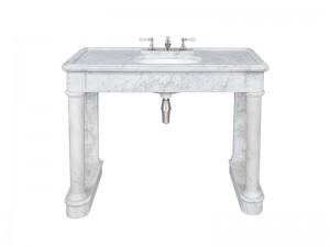 Lefroy Brooks Russborough consolle in marmo di Carrara LB6331WH