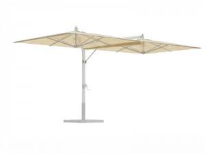 Ombrellificio Veneto Fellini Legno Sonnenschirm mit 2 seitlichen Armen 350x700cm FELLINI