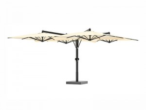 Ombrellificio Veneto Galileo Legno Sonnenschirm mit 4 seitlichen Armen 700x700cm GALILEO