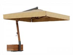 Ombrellificio Veneto Vespucci Sonnenschirm mit seitlichem Arm 300x300cm VESPUCCI