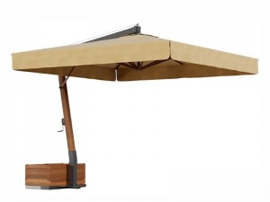 Ombrellificio Veneto Vespucci Sonnenschirm mit seitlichem Arm 400x400cm VESPUCCI