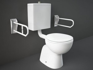 Rak Bella Topf am Boden für Behinderte mit Toilettendeckel BEWC00003+BESC00004
